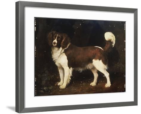 A Spaniel in a Landscape, 1784-George Stubbs-Framed Art Print