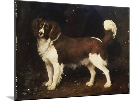 A Spaniel in a Landscape, 1784-George Stubbs-Mounted Giclee Print