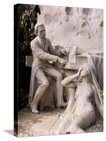 Monument to Frederic Chopin-French School-Stretched Canvas Print
