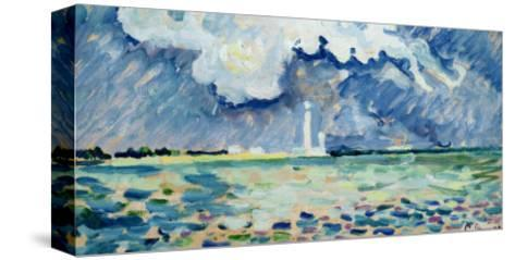 The Lighthouse at Gatteville-Paul Signac-Stretched Canvas Print