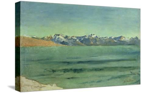 Sunrise over Mont Blanc, C.1890-Ferdinand Hodler-Stretched Canvas Print