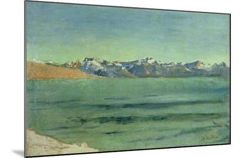 Sunrise over Mont Blanc, C.1890-Ferdinand Hodler-Mounted Giclee Print