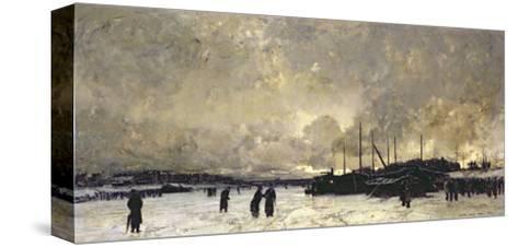 The Seine in December, 1879-Luigi Loir-Stretched Canvas Print