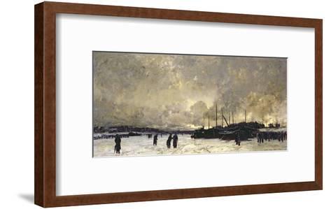 The Seine in December, 1879-Luigi Loir-Framed Art Print