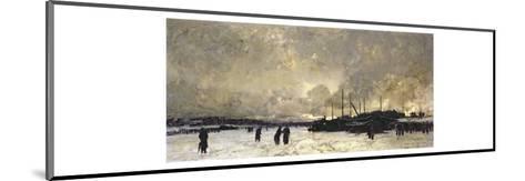 The Seine in December, 1879-Luigi Loir-Mounted Giclee Print