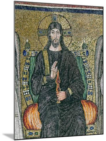Christ Enthroned with the Angels-Byzantine School-Mounted Giclee Print