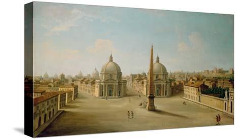 A View of the Piazza Del Popolo-Antonio Joli-Stretched Canvas Print