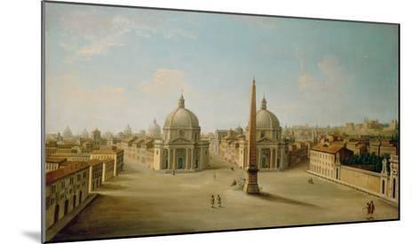 A View of the Piazza Del Popolo-Antonio Joli-Mounted Giclee Print