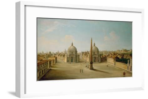 A View of the Piazza Del Popolo-Antonio Joli-Framed Art Print