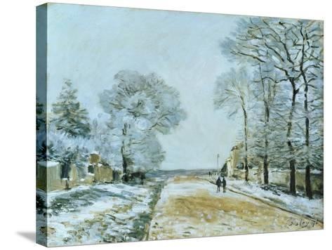 The Road, Snow Effect, 1876-Alfred Sisley-Stretched Canvas Print