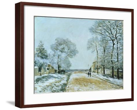 The Road, Snow Effect, 1876-Alfred Sisley-Framed Art Print