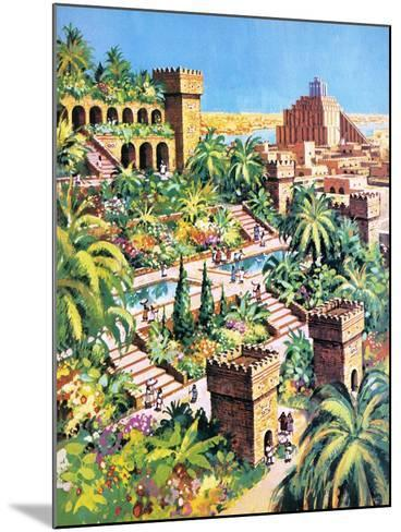 The Hanging Gardens of Babylon- Green-Mounted Giclee Print