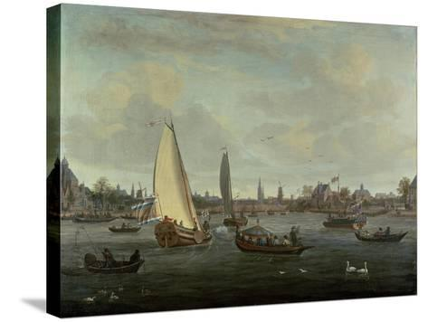 View of Amsterdam Harbour-Abraham Storck-Stretched Canvas Print