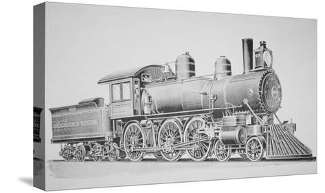 A Schenectady Locomotive-American School-Stretched Canvas Print