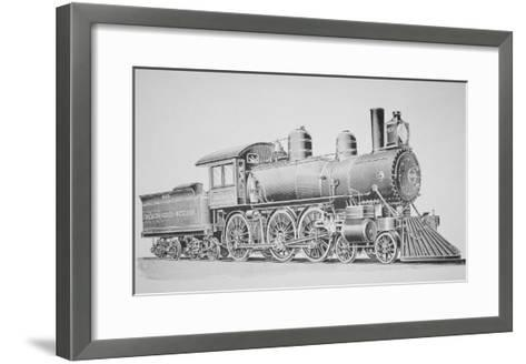 A Schenectady Locomotive-American School-Framed Art Print