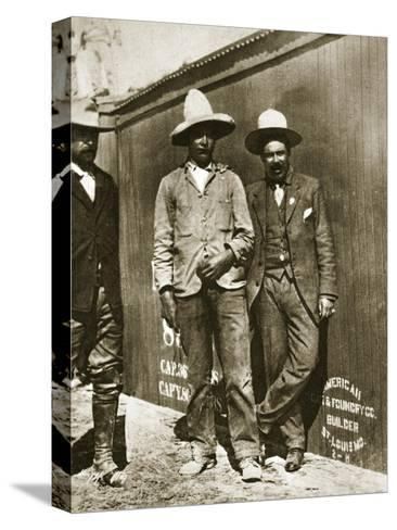 Pancho Villa and Two Rebels--Stretched Canvas Print