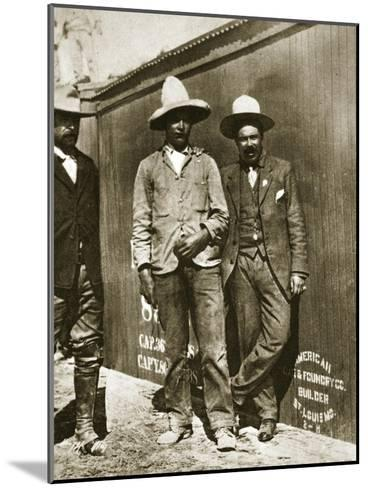 Pancho Villa and Two Rebels--Mounted Giclee Print