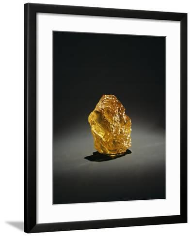 Yellow Diamond in the Rough--Framed Art Print