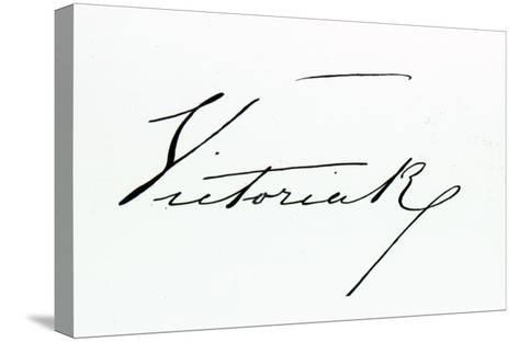 Signature of Queen Victoria--Stretched Canvas Print