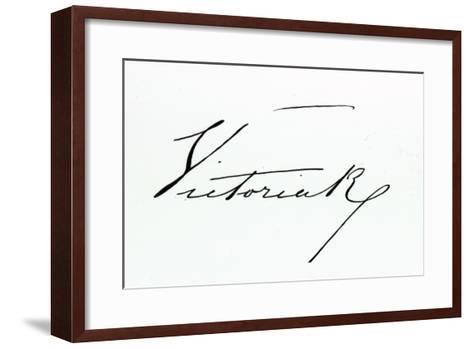 Signature of Queen Victoria--Framed Art Print