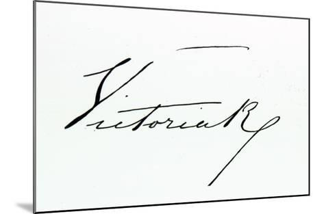Signature of Queen Victoria--Mounted Giclee Print
