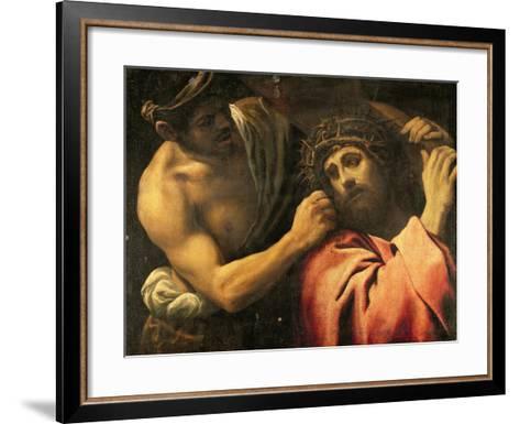 Christ Carrying the Cross-Annibale Carracci-Framed Art Print