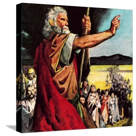 Moses in the Wilderness-McConnell-Stretched Canvas Print
