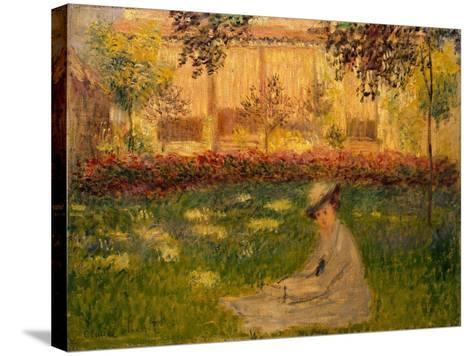 Woman in a Garden, 1876-Claude Monet-Stretched Canvas Print