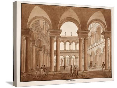 The Palazzo Borghese, 1833-Agostino Tofanelli-Stretched Canvas Print