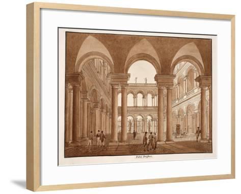 The Palazzo Borghese, 1833-Agostino Tofanelli-Framed Art Print