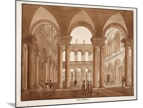 The Palazzo Borghese, 1833-Agostino Tofanelli-Mounted Giclee Print