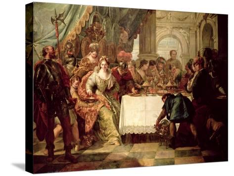 The Banquet of Cleopatra-Francesco Fontebasso-Stretched Canvas Print