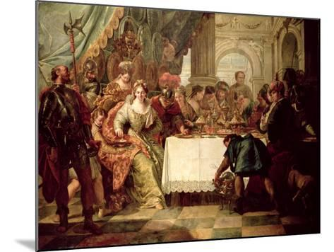 The Banquet of Cleopatra-Francesco Fontebasso-Mounted Giclee Print