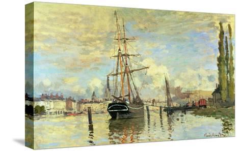 The Seine at Rouen, 1872-Claude Monet-Stretched Canvas Print