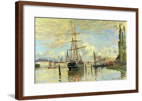 The Seine at Rouen, 1872-Claude Monet-Framed Art Print