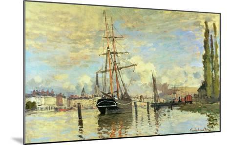 The Seine at Rouen, 1872-Claude Monet-Mounted Giclee Print