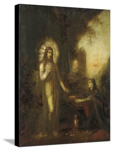 Christ and Mary Magdalene- Moreau-Stretched Canvas Print