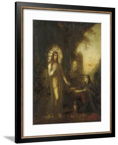 Christ and Mary Magdalene- Moreau-Framed Art Print