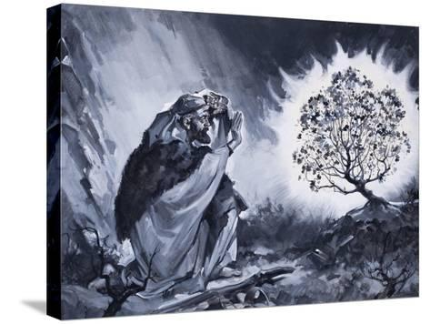 Moses and the Burning Bush-McConnell-Stretched Canvas Print