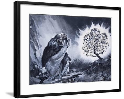 Moses and the Burning Bush-McConnell-Framed Art Print