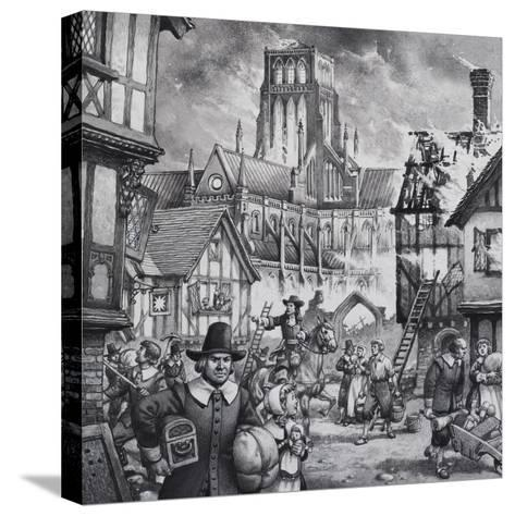The Great Fire of London-Pat Nicolle-Stretched Canvas Print