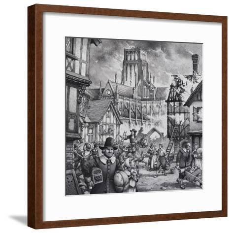 The Great Fire of London-Pat Nicolle-Framed Art Print