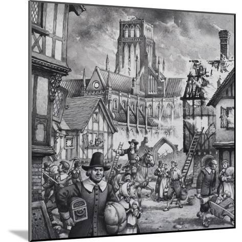 The Great Fire of London-Pat Nicolle-Mounted Giclee Print