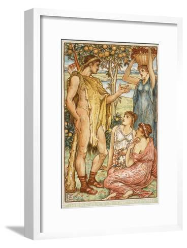 Hercules and the Nymphs-Walter Crane-Framed Art Print