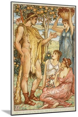 Hercules and the Nymphs-Walter Crane-Mounted Giclee Print