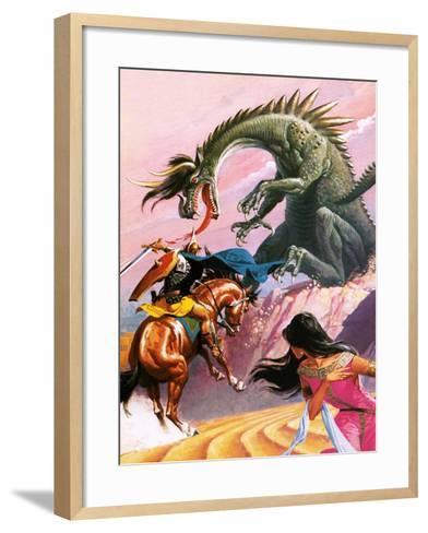 St George and the Dragon-Severino Baraldi-Framed Art Print
