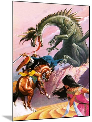 St George and the Dragon-Severino Baraldi-Mounted Giclee Print