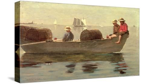 Three Boys in a Dory, 1873-Winslow Homer-Stretched Canvas Print
