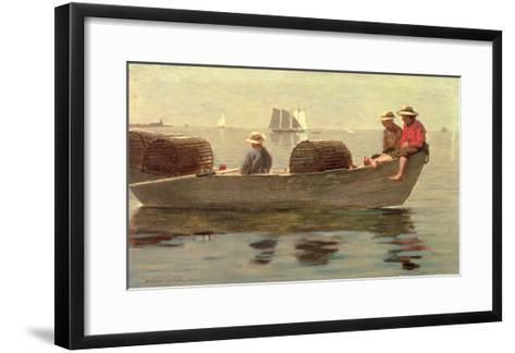 Three Boys in a Dory, 1873-Winslow Homer-Framed Art Print