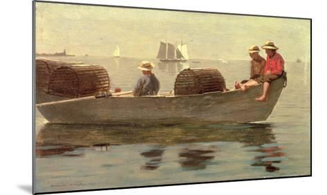 Three Boys in a Dory, 1873-Winslow Homer-Mounted Giclee Print